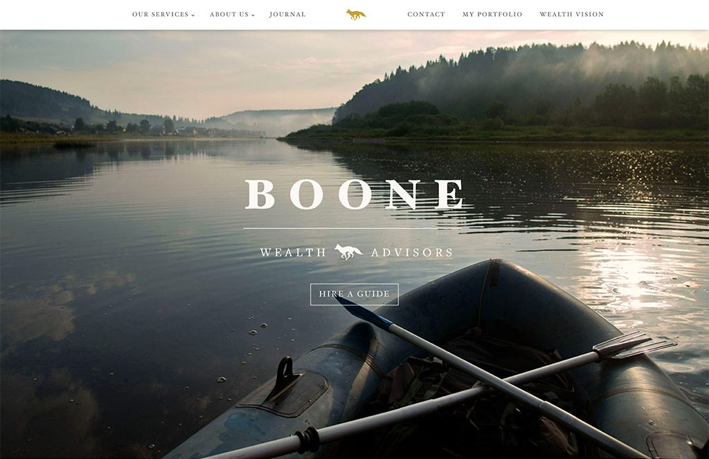 Boone Wealth website